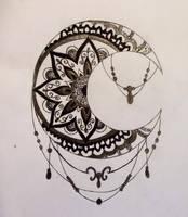 moon mandala by dinasaher