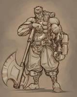 warrior by Valhein