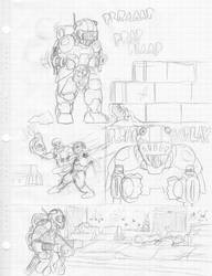 Raw Scan #009: Scifi Comic Sketch Page 001 by JohnColburn