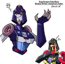 Transformers Cyberverse: Shadow Striker concept by BlueIke