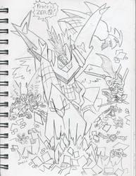 DZProjectX: Knocking on Death-X-Mon's Door by BlueIke
