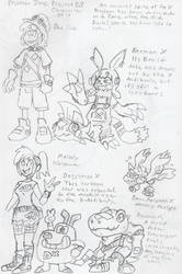 DZProjectX: Early Dan and Melody concept by BlueIke