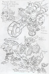 DZProjectX: Old DigiWorld Natives concept by BlueIke