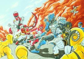 Power Ranger MEGAFORCE: The ally by kishiaku