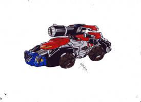Optimus Tank version 1 from TFCyb by kishiaku