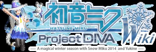 Project DIVA Wiki Logo v12 - Snow Miku 2014 HQ by olivaaa