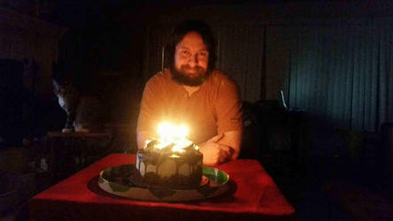 Me with my Birthday cake by Duel-Express