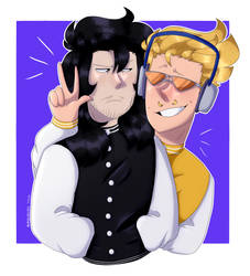 Present Mic and Aizawa by M0NSTERN0VA