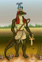 Sobek at the Nile by TephraLynn