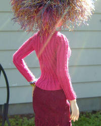 Bias Ribbed Sweater - Back by TephraLynn