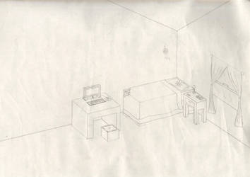 My apartment (uncolored) by Annie798