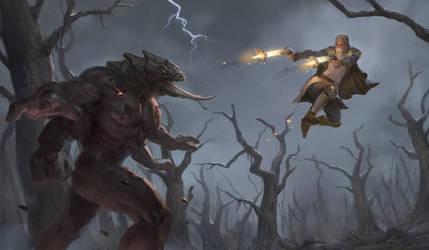 Purger Vs Monstrosity by Jordy-Knoop