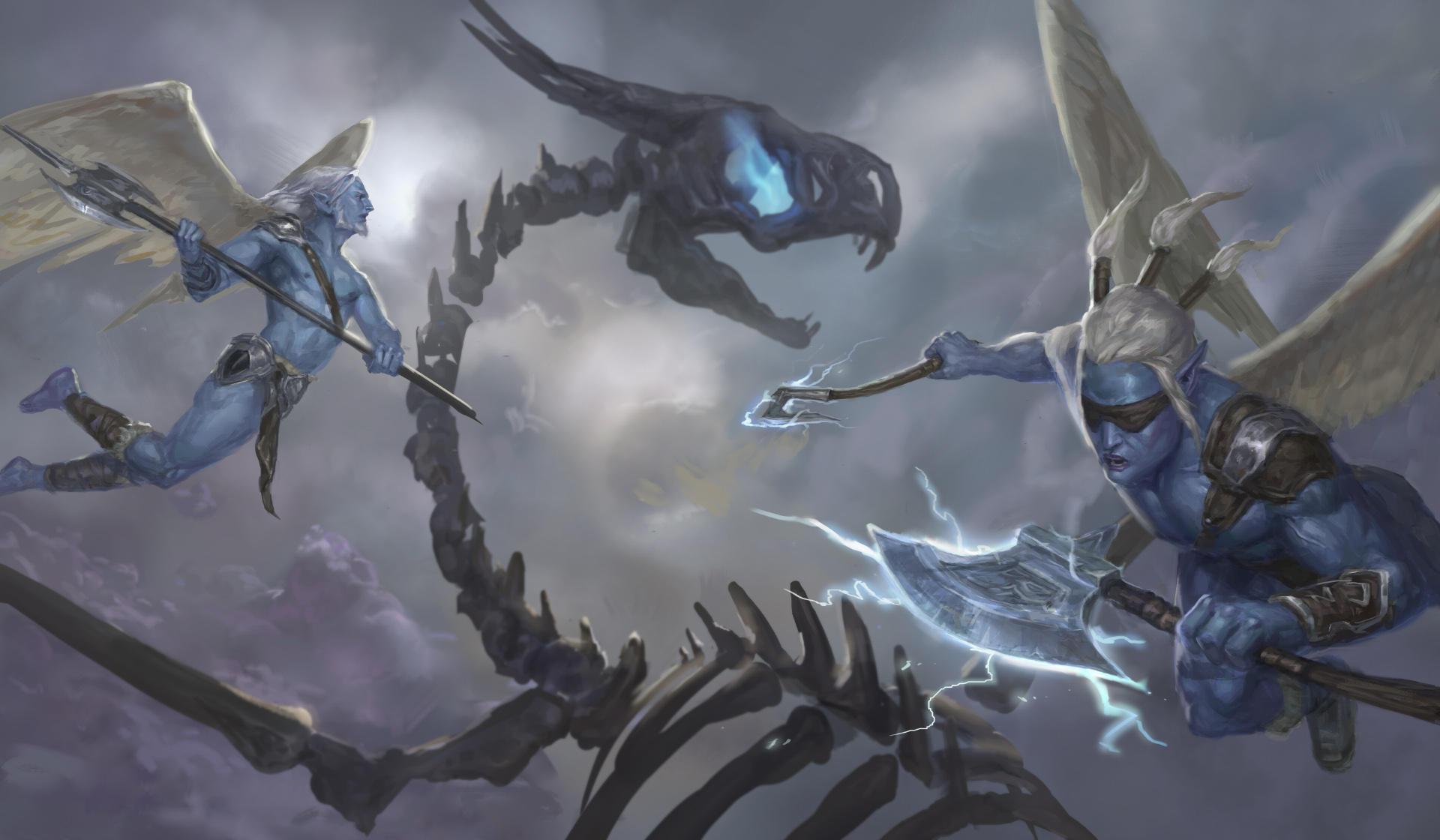 Frostwings vs Undead dragon by Jordy-Knoop