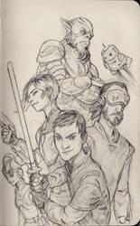 Star Wars Rebels Sketch by Jordy-Knoop