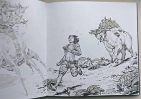 Inktober day 11: RUN! by Jordy-Knoop