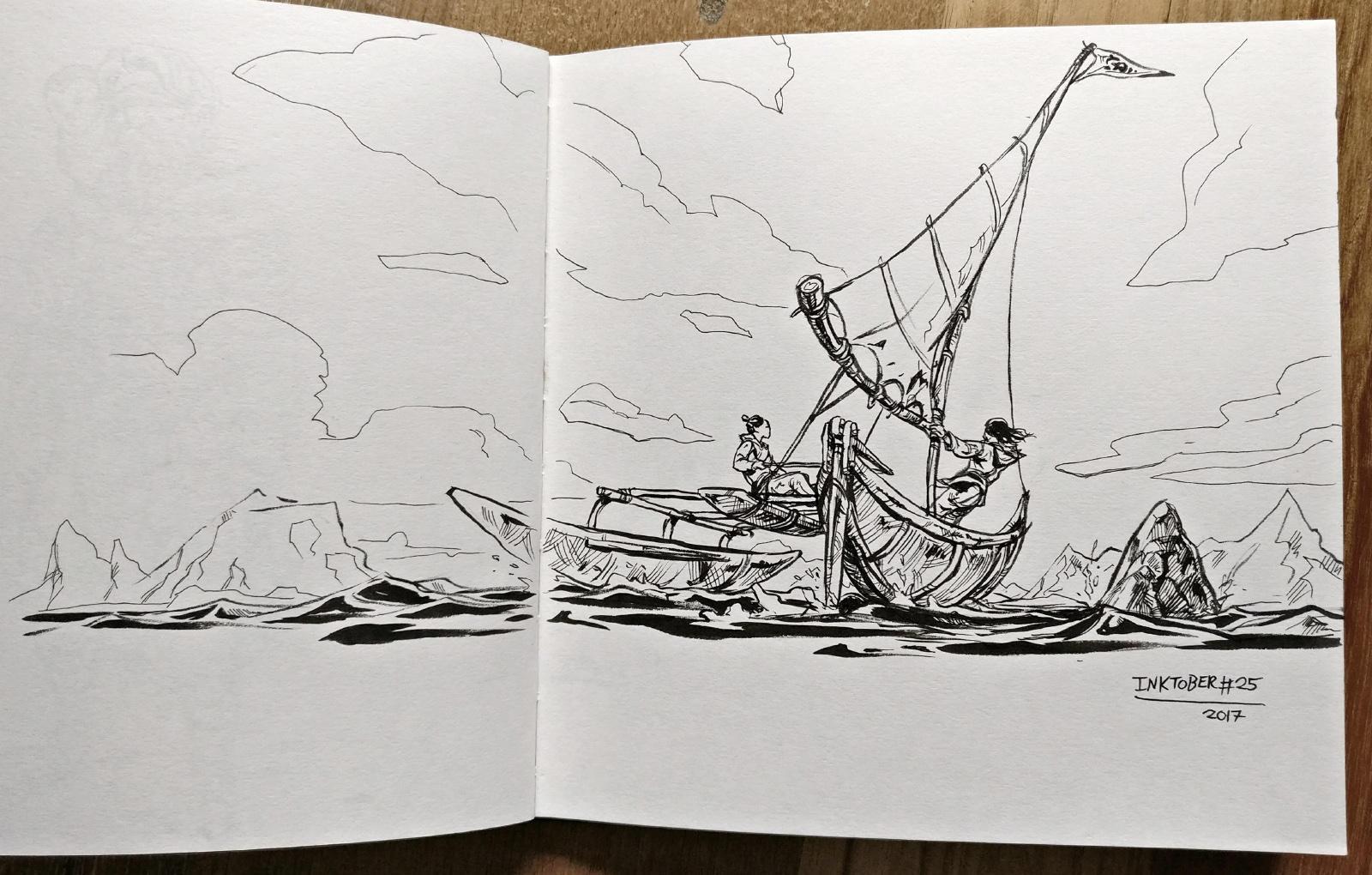 Inktober day 25: Ship! by Jordy-Knoop