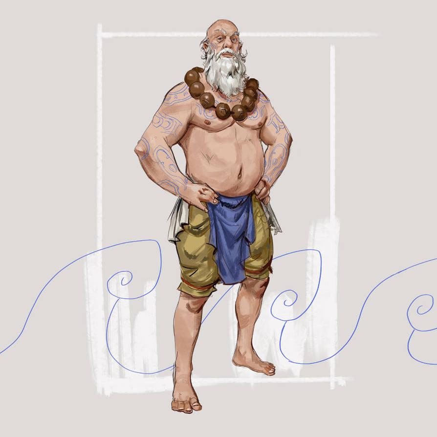 Zodan the Water mage by Jordy-Knoop
