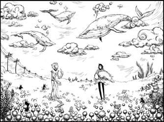 Whale field by Szacsi