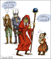 The reason Raistlin hates Sturm and Tanis by Szacsi