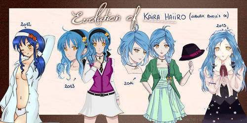 Kaira's evolution  by ShiroCup