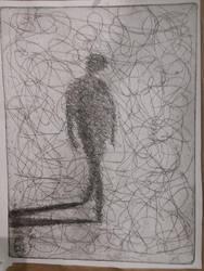 Scribble Depression Man by Plutonicorn