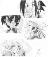 Shaman King Characters by rajlorcan