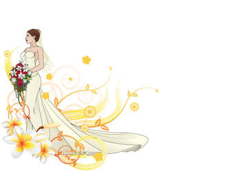 Beautiful Bride PPT Backgrounds by ppttemplates