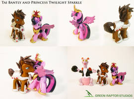 Princess Twilight Sparkle and Tai Bantly by GreenRaptor15