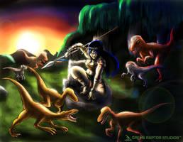 Kalwa the Raptor Queen by GreenRaptor15