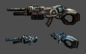 Razor - Futuristic Rifle by Visyor