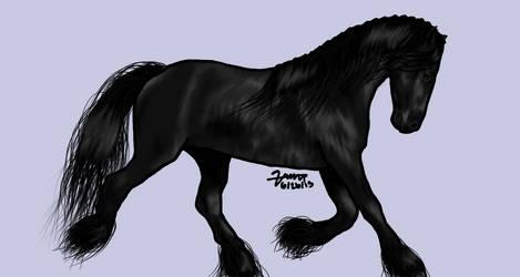 Freisian Horse by Bella49