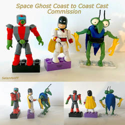 Space Ghost Coast to Coast Minifigure Commission by SATAMfanFF