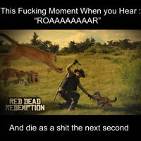 Puma Attack in Red Dead Redemption by Stevefucx