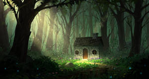 House in the woods by JoakimOlofsson