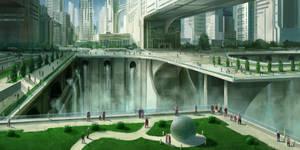 Futuristic city 2 by JoakimOlofsson