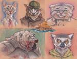 An assortment of creatures by Virtuxa