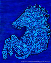 Celtic Horse by rebeccawangart
