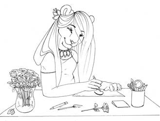 Drawing flowers by ShungiLion