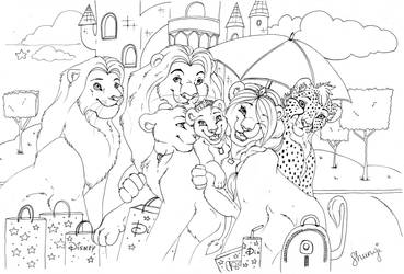 Disneyland Paris (Inked) by ShungiLion