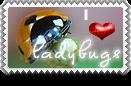 I Heart Ladybugs Stamp by barefootphotos