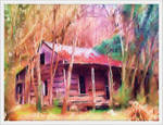 Manipulated Cabin by barefootphotos
