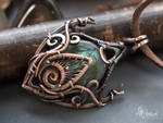 Fantasy wire wrapped pendant by Artarina