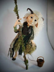 SOLD Faun Posable Art Doll by FaunleyFae