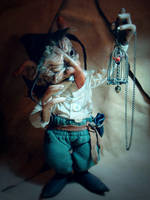 SOLD: Terry -OOAK Goblin Fae Posable Art Doll by FaunleyFae