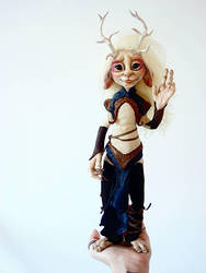 SOLD: Kirin Fae Poseable Art Doll by FaunleyFae