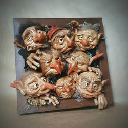 SOLD - Commission: OOAK Large 3d Goblin Frame by FaunleyFae