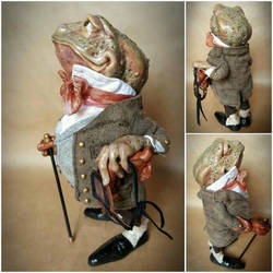 SOLD Mr Toad OOAK Art Doll by FaunleyFae