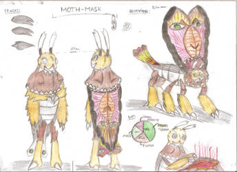 Moth Mask by Carpatianlion