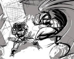 Bats Vs Pred skratch by cereal199