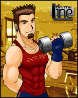 Mike working out by Sarumaru